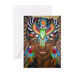 Hawk Goddess Greeting Cards (Pk of 10)