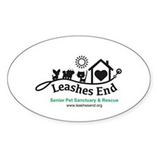 Leashes End Oval Sticker ($2 To Leashes End)