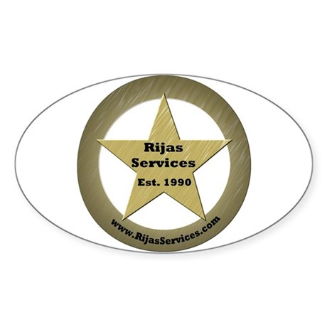 Rijas Services, LLC Sticker (Oval 50 pk)