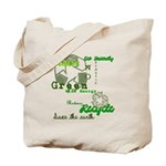 Earth Friendly Gone Green Reusable Canvas Tote Bag