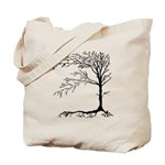 Black Tree Reusable Canvas Tote Bag