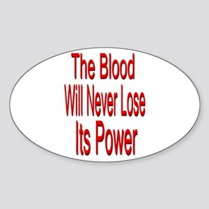 The Blood Oval Sticker