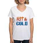 Hot & Cold Women's V-Neck T-Shirt