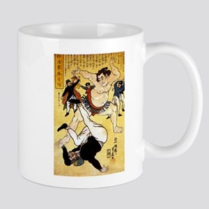Foreigner and Wrestler at Yokohama Mug