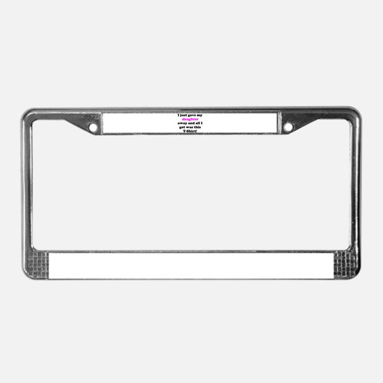 Cute Father of the bride License Plate Frame