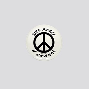 Solid Give Peace A Chance Mini Button