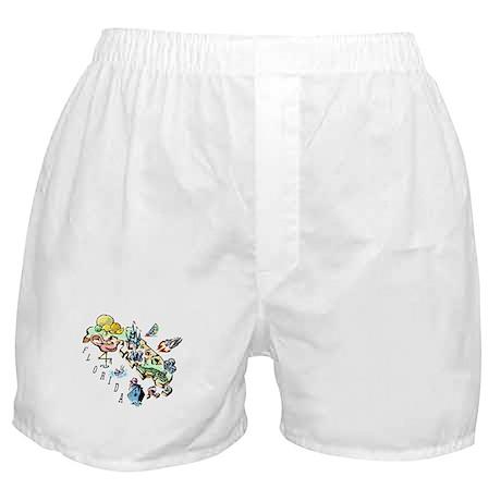 Florida Map Boxer Shorts