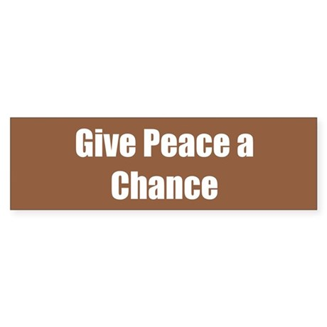 Give Peace a Chance