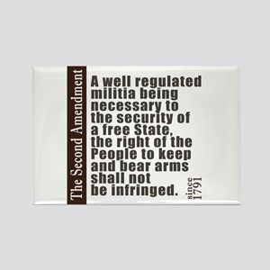 2nd Amendment Rectangle Magnet