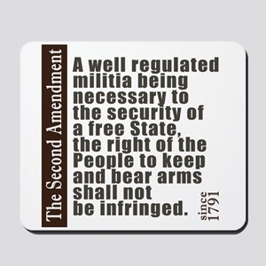 2nd Amendment Mousepad