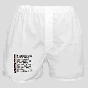 2nd Amendment Boxer Shorts
