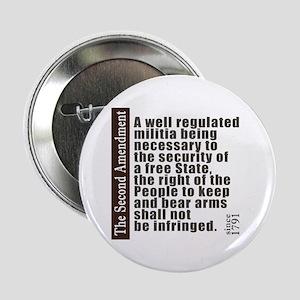 """2nd Amendment 2.25"""" Button"""