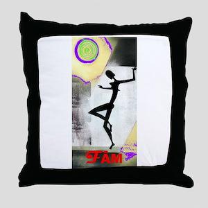 Girl Dance Fame 2 Throw Pillow