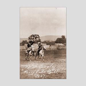 Buffalo Bill Shooting Target Poster Print