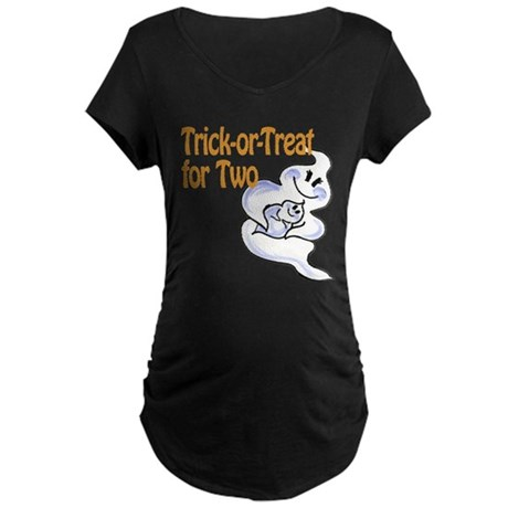 Trick or Treat for 2 Maternity Dark T-Shirt