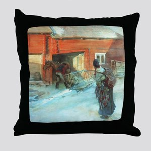 A Farmstead Throw Pillow