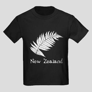New Zealand Leaves Kids Dark T-Shirt