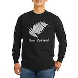 New zealand Long Sleeve Dark T-Shirts