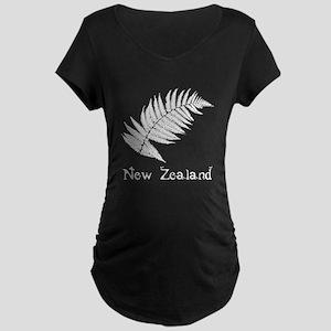 New Zealand Leaves Maternity Dark T-Shirt