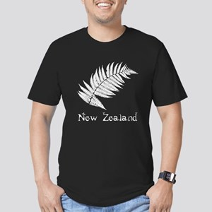 New Zealand Leaves Men's Fitted T-Shirt (dark)