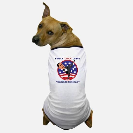 No Obama BIrth Certificate Dog T-Shirt
