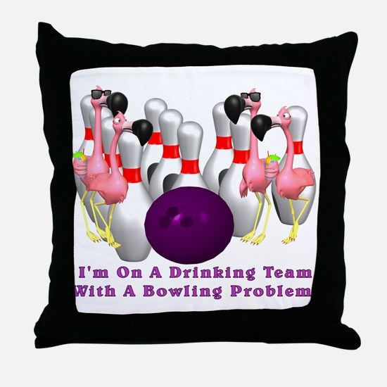 Bowling Problem Throw Pillow