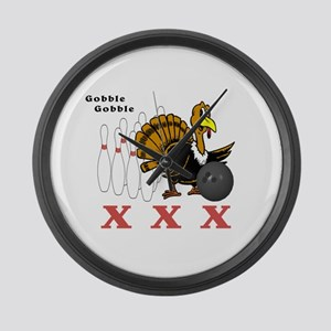 Bowling Turkey Large Wall Clock