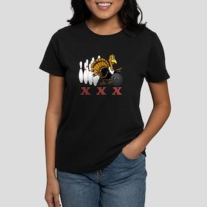 Bowling Turkey Women's Dark T-Shirt