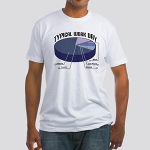 Typical Work Day Fitted T-Shirt