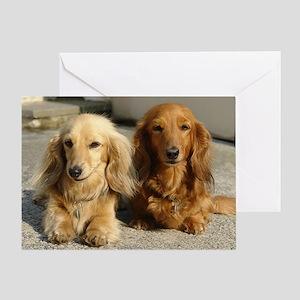 Doxie Pair Greeting Card