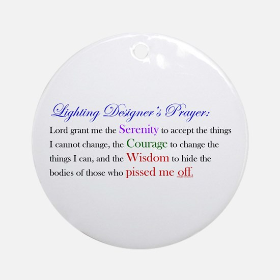 Light Designer Prayer Ornament (Round)