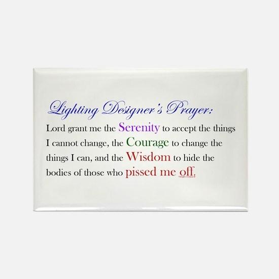 Light Designer Prayer Rectangle Magnet