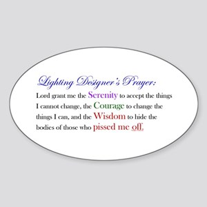 Light Designer Prayer Oval Sticker
