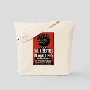 Civil Liberties in Wartime WPA Art Tote Bag