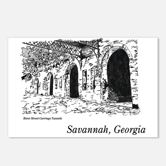 Savannah, Georgia Postcards (Package of 8)