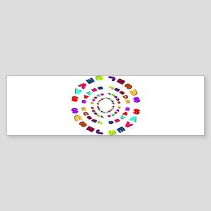 Jesus Saves Circle Bumper Sticker