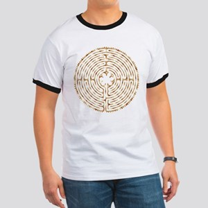 Chartres Labyrinth Pearl Ringer T