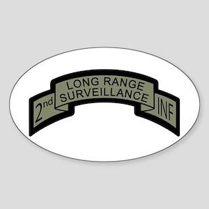 2nd INF LRS ACU Long Range Su Oval Sticker