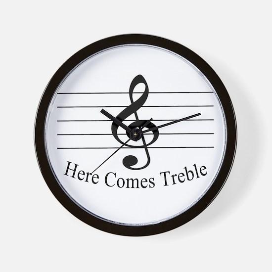 Here Comes Treble ..  Wall Clock