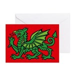 Midrealm Dragon red Greeting Cards (Pk of 10)