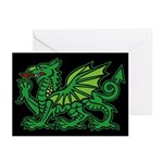Midrealm Dragon blk Greeting Cards (Pk of 10)