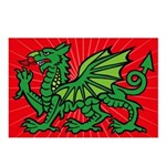 Midrealm Dragon starburst Postcards (Package of 8)