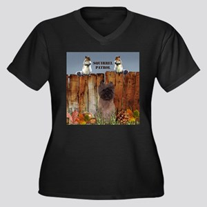 Cairn Terrier Squirrels Women's Plus Size V-Neck D