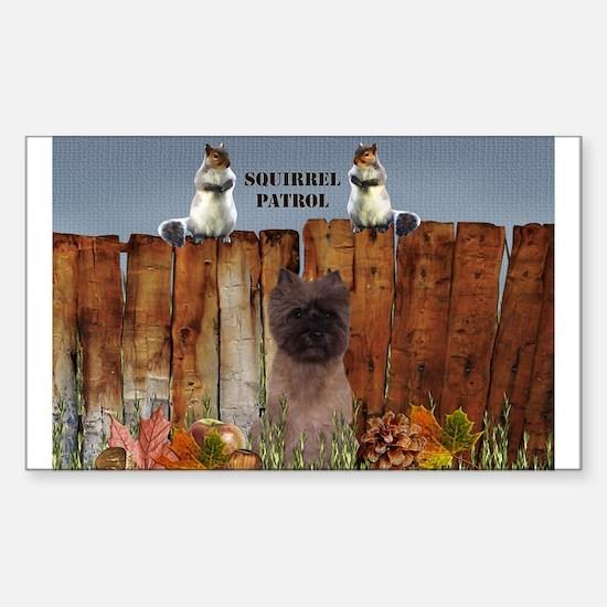 Cairn Terrier Squirrels Sticker (Rectangle 10 pk)