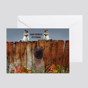 Cairn Terrier Squirrels Greeting Card