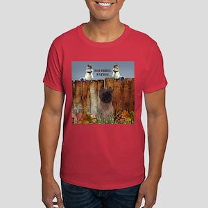 Cairn Terrier Squirrels Dark T-Shirt