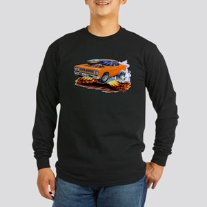 Roadrunner Orange Car Long Sleeve Dark T-Shirt