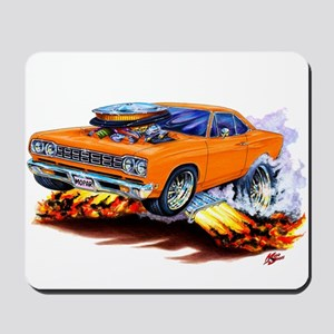 Roadrunner Orange Car Mousepad