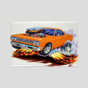 Roadrunner Orange Car Rectangle Magnet