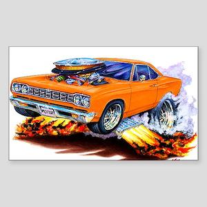 Roadrunner Orange Car Rectangle Sticker